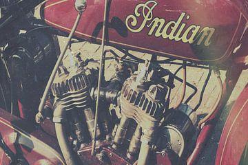 Indian motorfiets van Wolbert Erich