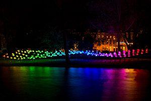 Verlichte gracht Amsterdam Light Festival