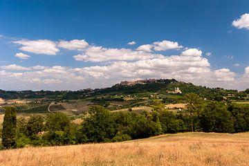 Blik op Montepulciano - Toscane - Italie van Jeroen(JAC) de Jong