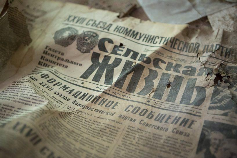 Krant Tsjernobyl van Erwin Zwaan