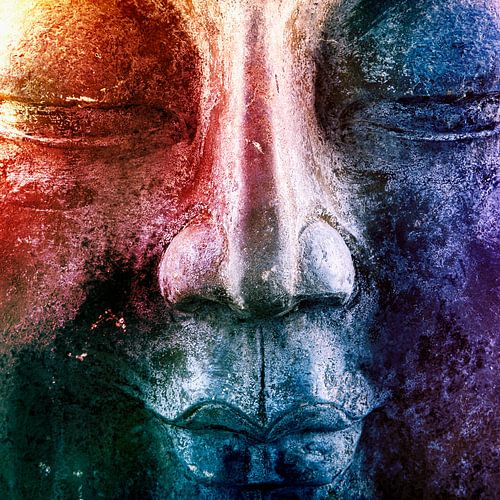 Kleurrijke Boeddha van