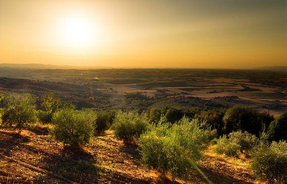 Toscaanse zonsondergang van Dennis van de Water