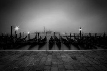VENEDIG San Giorgio Maggiore im Nebel von Melanie Viola