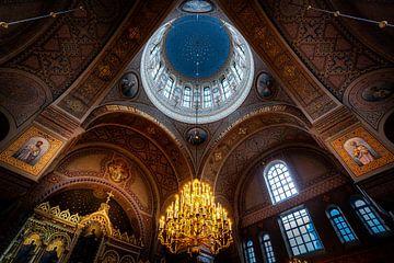Magnifique intérieur de l'église russe Uspenski à Helsinki sur Roy Poots