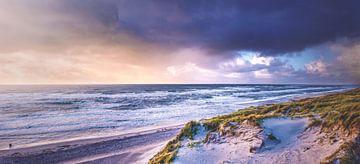 Strandpanorama der dänischen Küste im Winter von Florian Kunde
