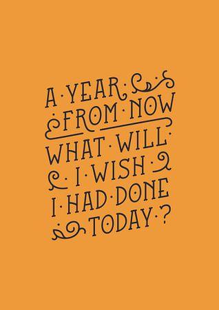 A year from now (orange) von Rene Hamann