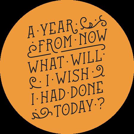 A year from now (orange) van Rene Hamann