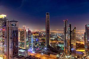 Dubai Skyline zonsondergang