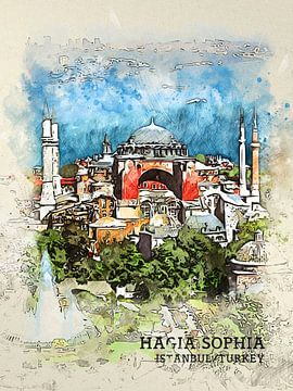 Hagia Sophia van Printed Artings