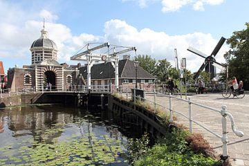 Morspoort et le moulin De Put, Leiden sur Carel van der Lippe