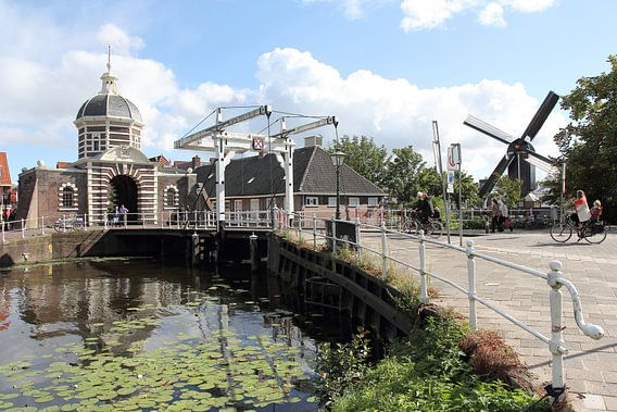 Morspoort en molen De Put, Leiden