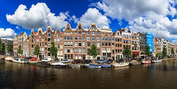 Panorama van de Prinsengracht in Amsterdam sur