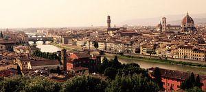 Panorama Florence, Toscane vanaf het  Piazzale Michelangelo. van