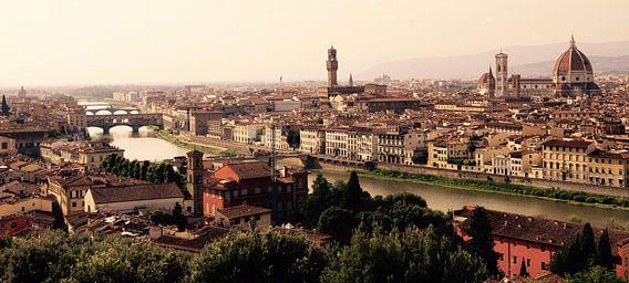 Panorama Florence, Toscane vanaf het  Piazzale Michelangelo. van Jasper van de Gein Photography