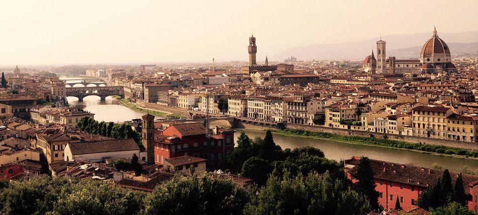 Panorama Florence, Toscane vanaf het  Piazzale Michelangelo.