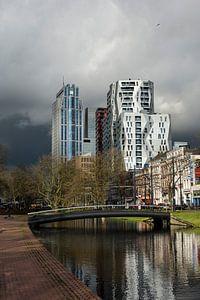 Rotterdam, de Westersingel net voor de winterse bui.