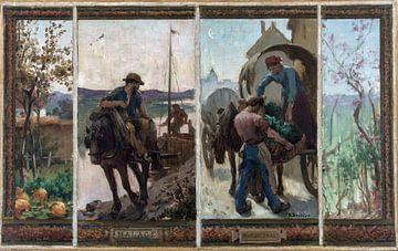 Transport - Gemüseanbau, Paul-Albert Baudoin, 1833 von Atelier Liesjes