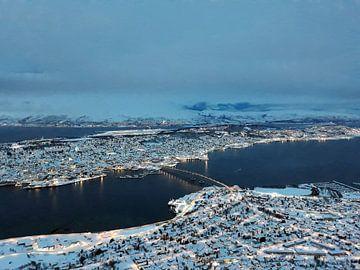 Uitzicht op Tromsø, Noorwegen van Arty Crafty