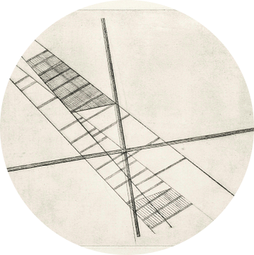 Bauhaus, László Moholy-Nagy, zonder titel - 1923 van Atelier Liesjes