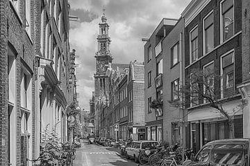 Zicht op de Westertoren in Amsterdam van Amsterdam Fotografie (Peter Bartelings)