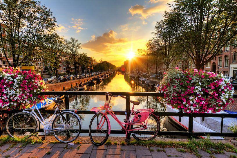 Amsterdam zonnige brug van Dennis van de Water