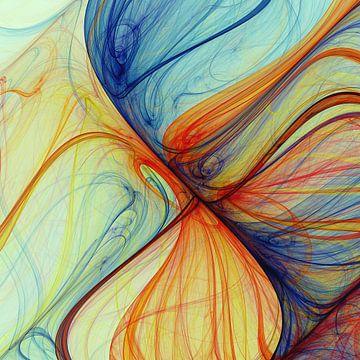 Composition abstraite 414 van Angel Estevez