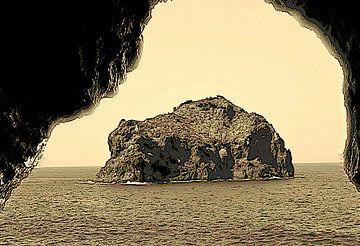 Natuurmonument Roque de Garachico op een zeer originele manier van kanarischer Inselkrebs Heinz Steiner