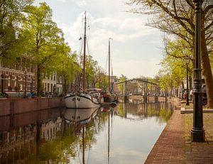 Ochtendlicht in de Lange Haven in Schiedam van