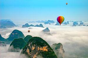 Luchtballon boven Yangshuo China van