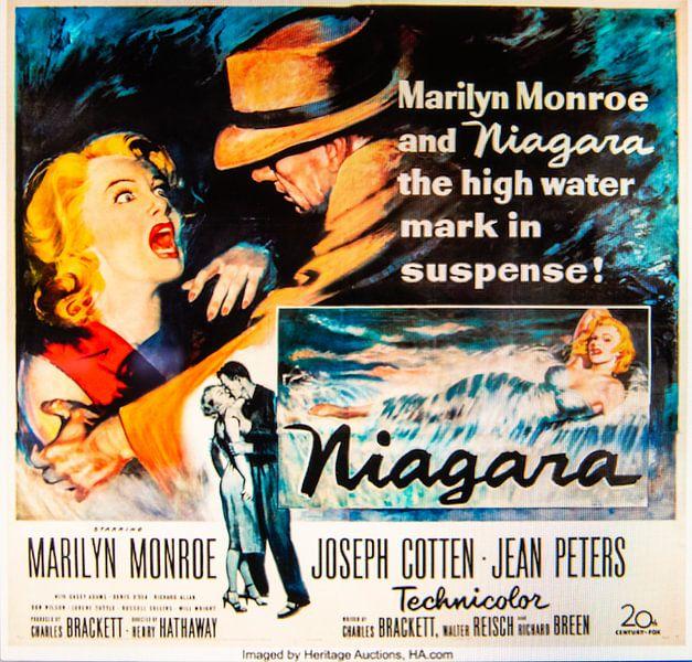 Filmposter Niagara met Marilyn Monroe van Brian Morgan