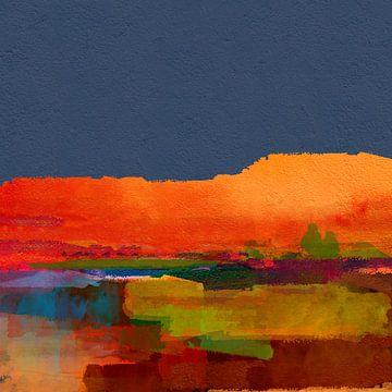 Landschaft mit Hügeln von Andreas Wemmje