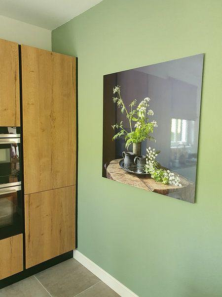 Klantfoto: Stilleven met Fluitenkruid en tin op hout [vierkant] (gezien bij vtwonen) van Affect Fotografie
