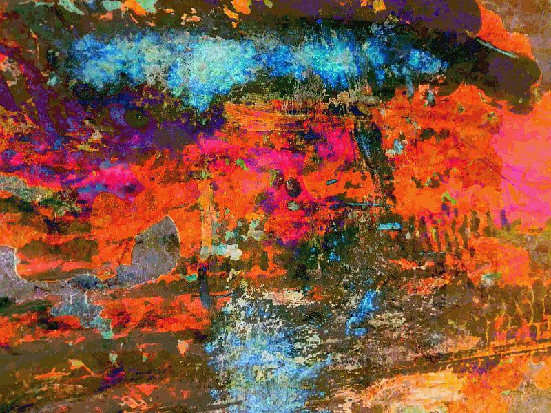 Modern, Abstract Digitaal Kunstwerk – Falling In And Out van Art By Dominic