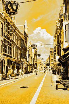 Innenstadt von Den Haag Niederlande Gold von Hendrik-Jan Kornelis