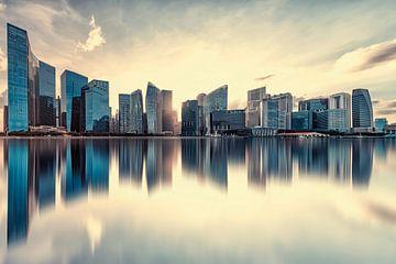 Immeubles de bureau à Singapour sur Manjik Pictures