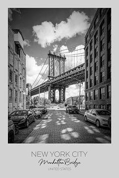 In beeld: NEW YORK CITY Manhattan brug van Melanie Viola