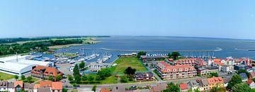 Panorama van de haven van Barth van Leopold Brix