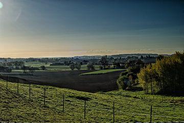 Sonnenaufgang Coige, Leefdaal von Manuel Declerck