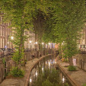 Nieuwegracht in Utrecht in de avond - 2