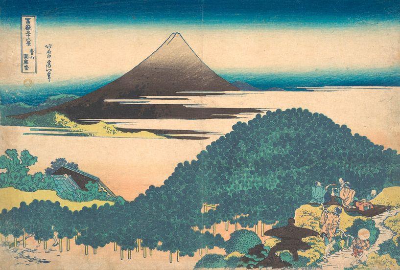 Polsterkiefer in Aoyama, Katsushika Hokusai von Meesterlijcke Meesters