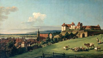 Blick auf Pirna vom Schloss Sonnenstein, Bernardo Bellotto