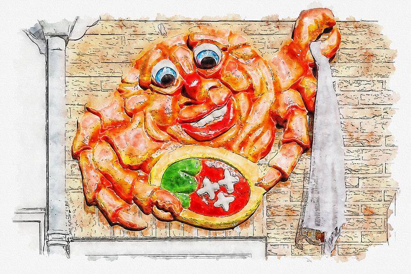 Berreg-Krabbe (Aquarell) von Art by Jeronimo
