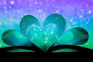 Blauw hart van