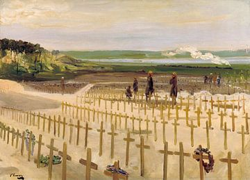 John Lavery~Der Friedhof, Etaples, 199