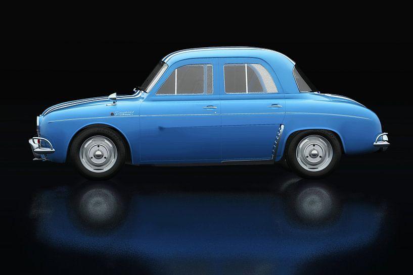 Renault Dauphine Gordini Zijaanzicht van Jan Keteleer