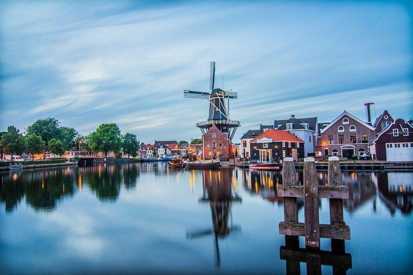 Zonsondergang in Haarlem 03 van Arjen Schippers