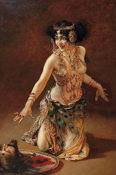 leopold schmutzler, Lili Marberg als Salome, um 1905 von Atelier Liesjes