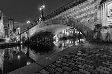 Belgie - Gent bij Nacht - Sint-Michielsbrug van Fotografie Krist / Top Foto Vlaanderen