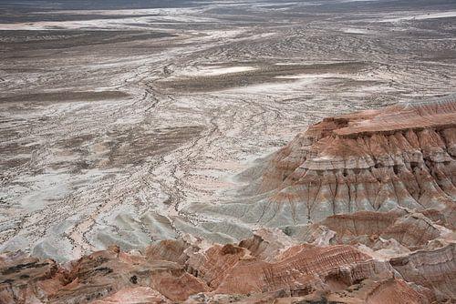 Uitzicht op het ravijn met rotsen in Centraal-Azië | Turkmenistan