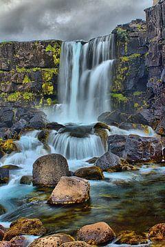 Waterval IJsland van Filippus Kiemel